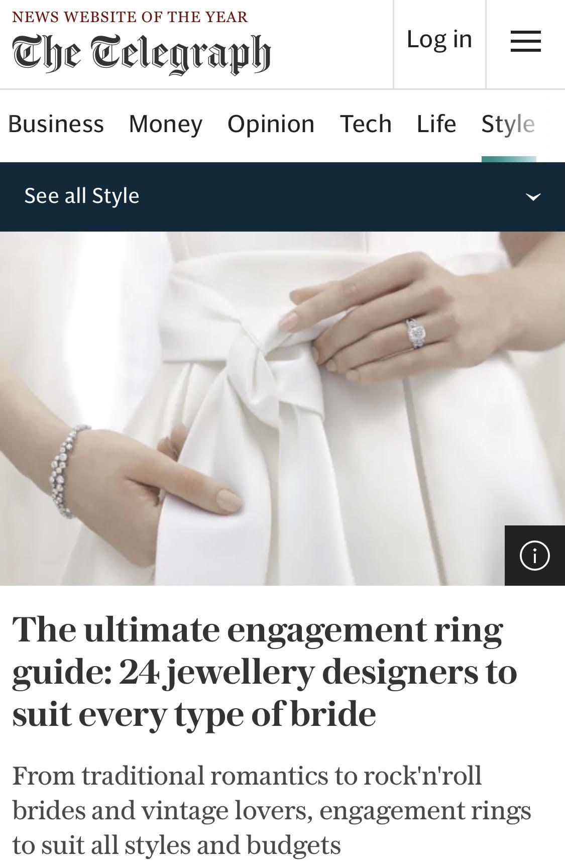 TELEGRAPH LUXURY: 24 JEWELLERY DESIGNERS TO SUIT EVERY TYPE OF BRIDE
