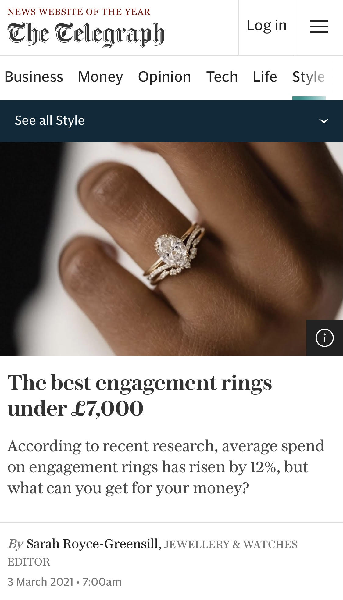 OUR DIAMOND FLORAL CLUSTER RING MAKES THE CUT!