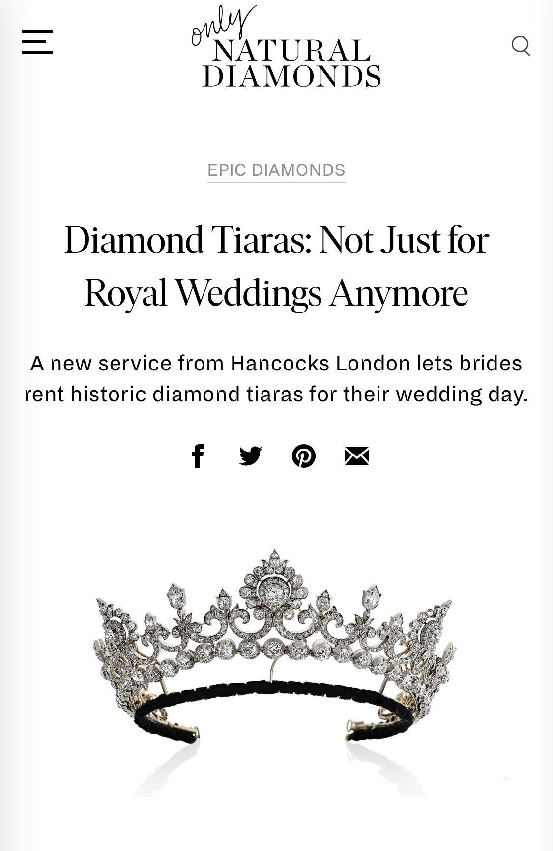 TALKING TIARAS WITH THE NATURAL DIAMOND COUNCIL